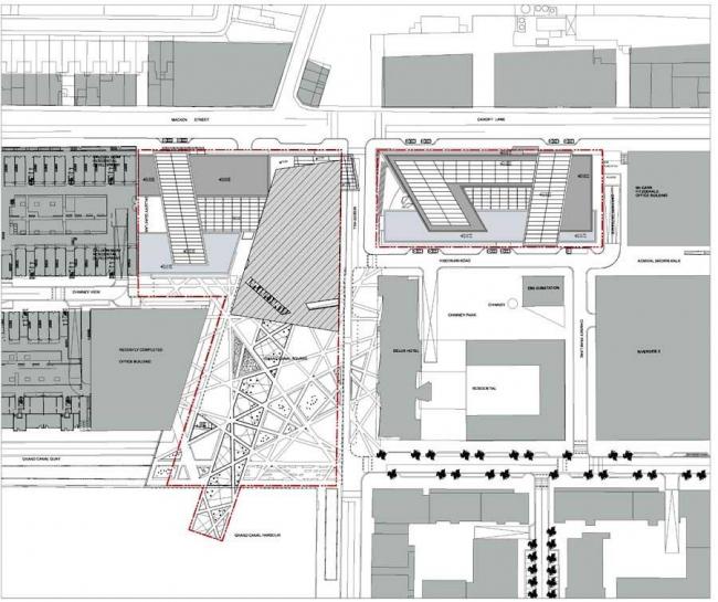 Ансамбль площади Гранд-Канал-Сквер © Studio Libeskind