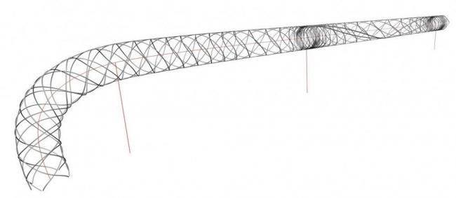 Пешеходный мост в Ла-Рош-сюр-Йон
