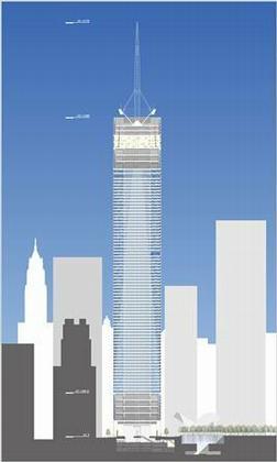 Дэвид Чайлдс. «Башня Свободы». Проект. Июнь 2006. Схема конструкции