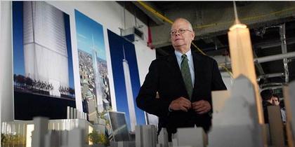 Дэвид Чайлдс представляет переработанный проект «Башни Свободы». 28 июня 2006