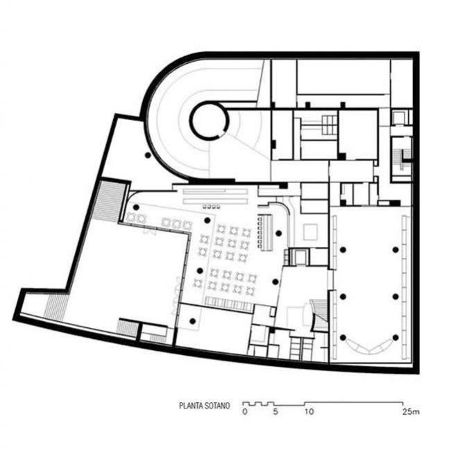 Библиотека университета Деусто. Этаж -1 © Rafael Moneo