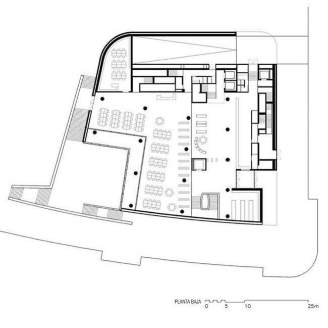 Библиотека университета Деусто. 1-й этаж © Rafael Moneo