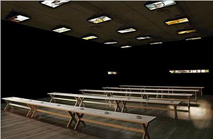 Вид зала выставки «Восприятие ограничено». МоМА, 21 июня – 25 сентября 2006