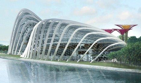 Оранжереи в парке Марина-Бэй-Саут © Wilkinson Eyre Architects
