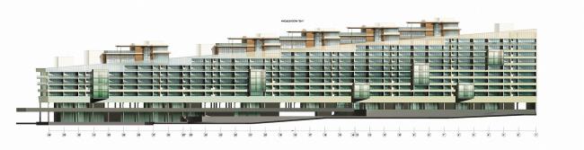 Многофункциональный спортивно-развлекательный комплекс с апартаментами «Город яхт» © Архитектурная мастерская Лызлова