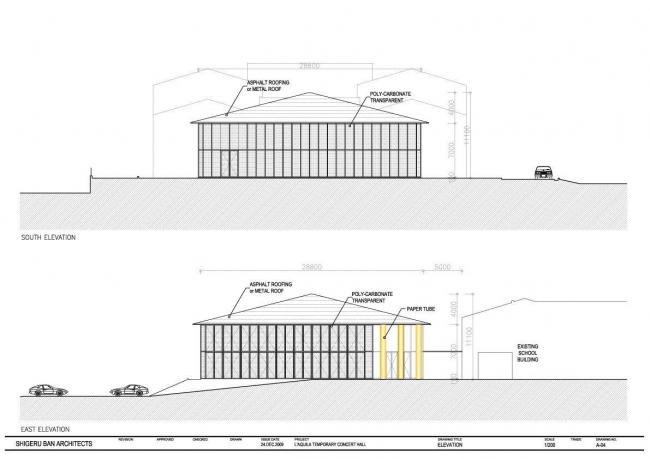 Бумажный концертный зал в Л′Аквиле