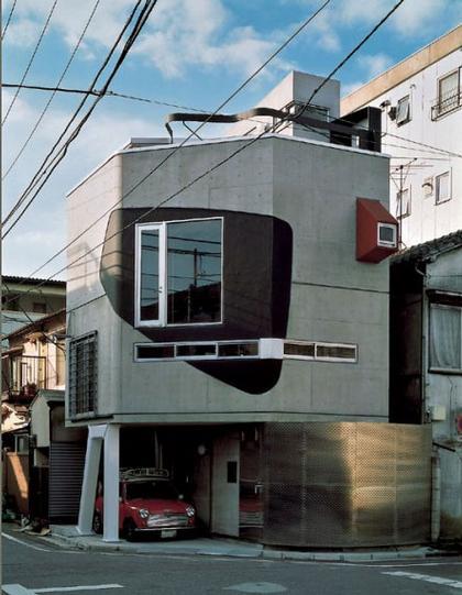 «Дом мимо которого промелькнул ниндзя» в Японии  для семьи критика Акиро Сузуки. Фотография с сайта Bolles&Willson