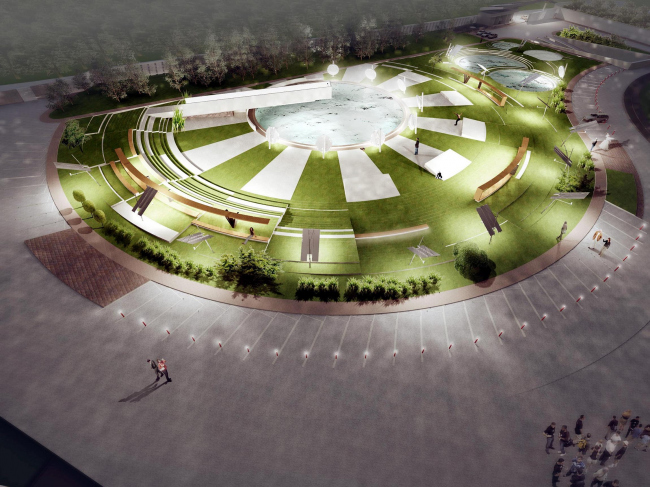«Сколково-парк», проект благоустройства, 2010 © ТПО «Резерв»