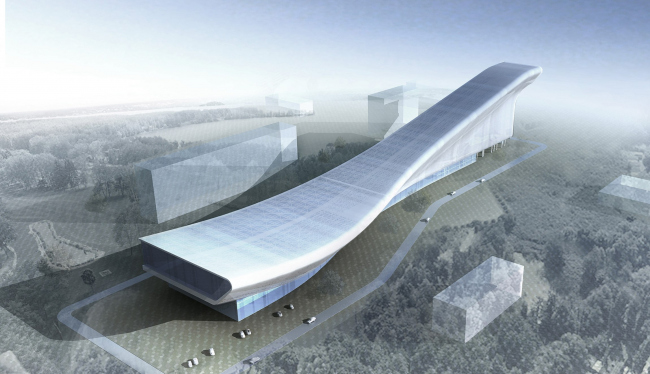 Indoor ski slope in baku