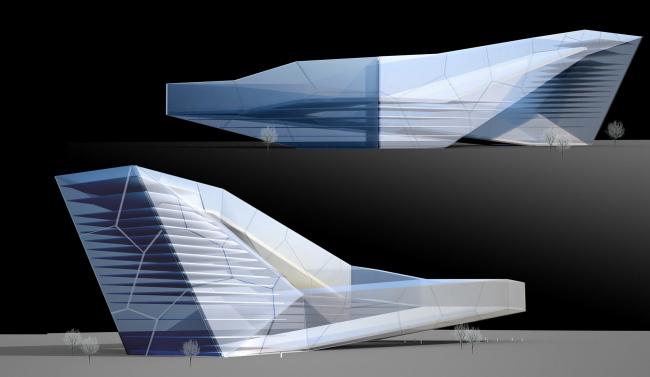 Крытый горнолыжный склон в Баку © Архитектурное бюро Асадова