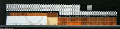 Петер Кулька. Проект фасада торгового центра на Прагер Штрассе в Дрездене. 1-е место