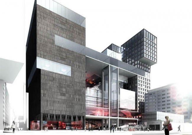Конкурсный проект Architectenstudio HH, Rapp+RApp, Jean/Marc IBOS en Myrto VITART