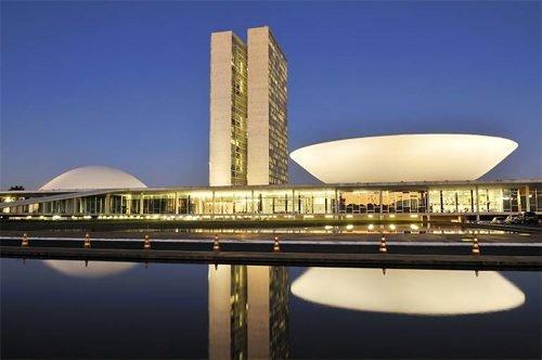 Здание Национального Конгресса. Архитектор Оскар Нимейер. 1960