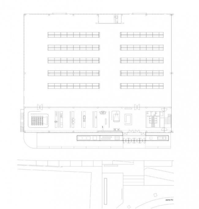 Музей промышленности и труда. План первого этажа © Kleihues + Kleihues