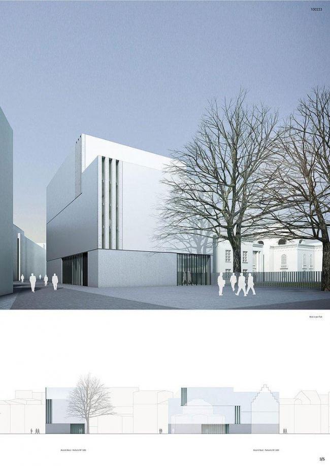 Здание репетиционной сцены Немецкого театра © gmp
