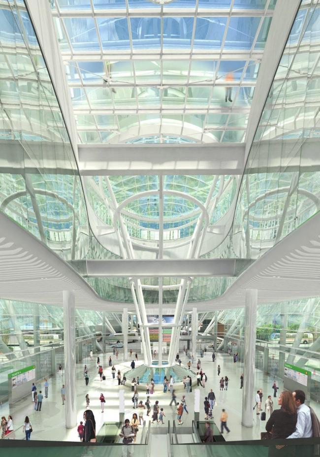 Транспортный центр Трансбэй. Проект 2010 года © Pelli Clarke Pelli Architects