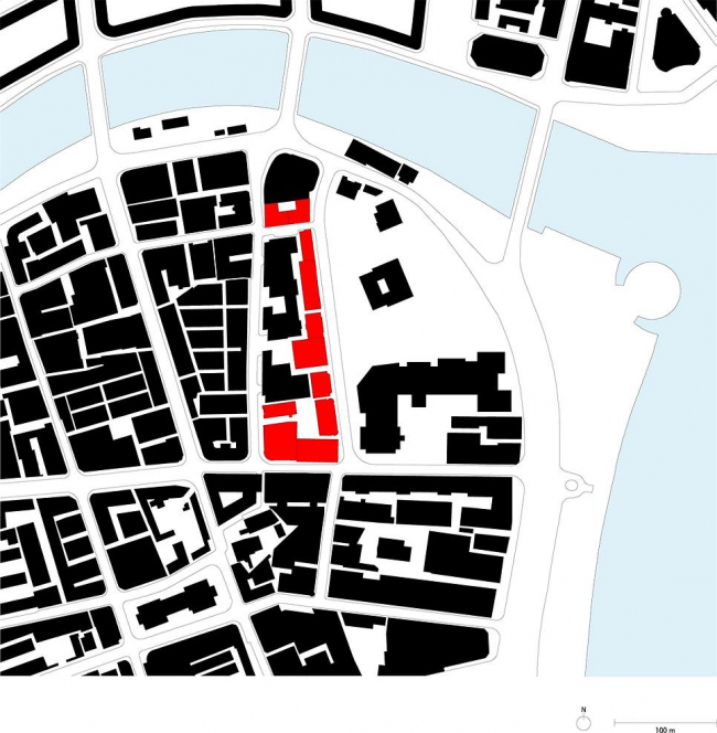 Ситуационный план комплекса «Проект Рокбунд» © David Chipperfield Architects