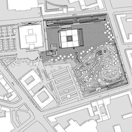 Мемориальный комплекс «Топография террора». Ситуационный план © Heinle, Wischer & Partner