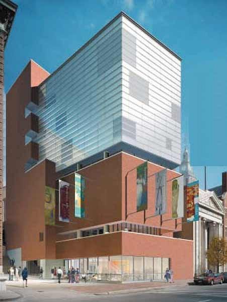 Центр Чейс Школы дизайна Род-Айленда. Первый вариант проекта