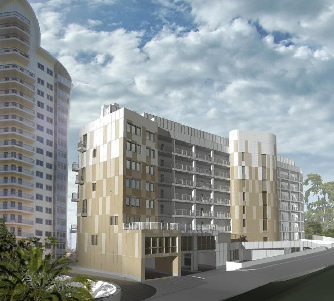 Apartment complex with an underground parking on Morskoi passage in Sochi