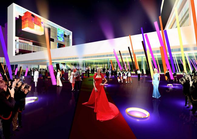 Конкурсный проект Центра поп-музыки в Тайбэе © ТПО «Резерв»