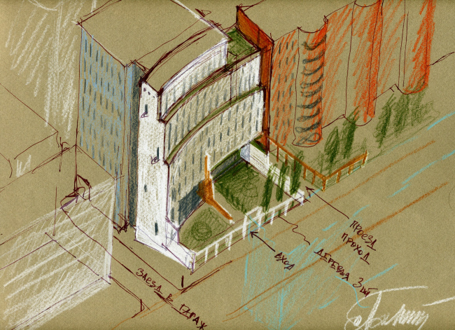 Офисное здание на ул. Нижняя Красносельская, вл. 39, стр.1 © Алексей Бавыкин и партнёры