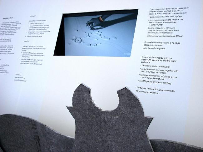 Оргалитовый домик с презентацией Калининградского фестиваля Инстергод 2010.