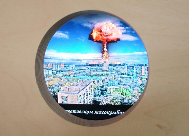 В скворечнике очередной прикол: атомный (?) взрыв на мясокомбинате, и пр. Эта экспозиция также, увы, уже закрыта.