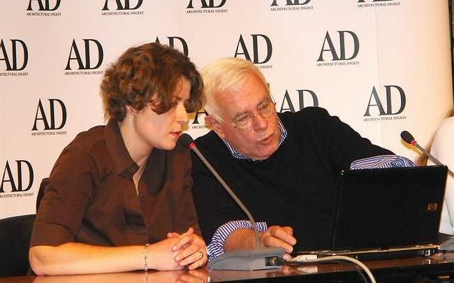 Питер Айзенман и Евгения Микулина, главный редактор журнала AD