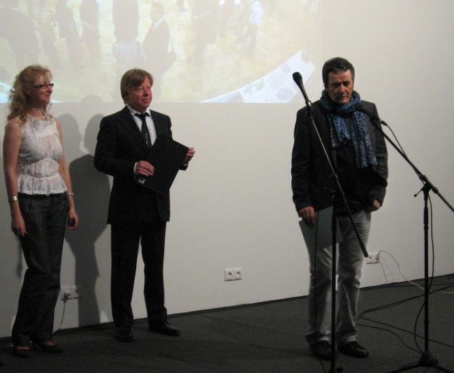 Владимир Плоткин, новый «архитектор года», на вручении наград Арх Москвы. Фотография Натальи Коряковской.