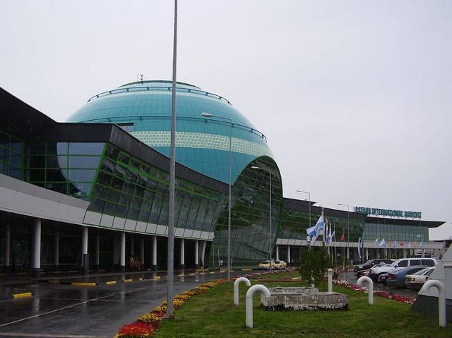 Международный аэропорт Астаны. Фото: Yuriy75 via Wikimedia Commons. Лицензия CC-by-sa