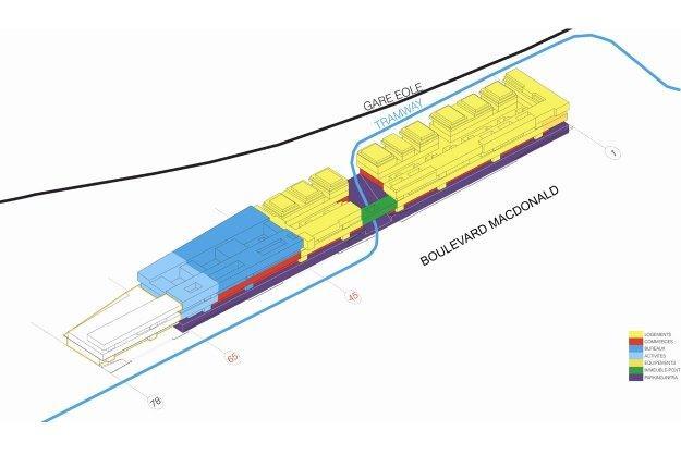 Склад Макдональд - реконструкция. Схема функциональных зон