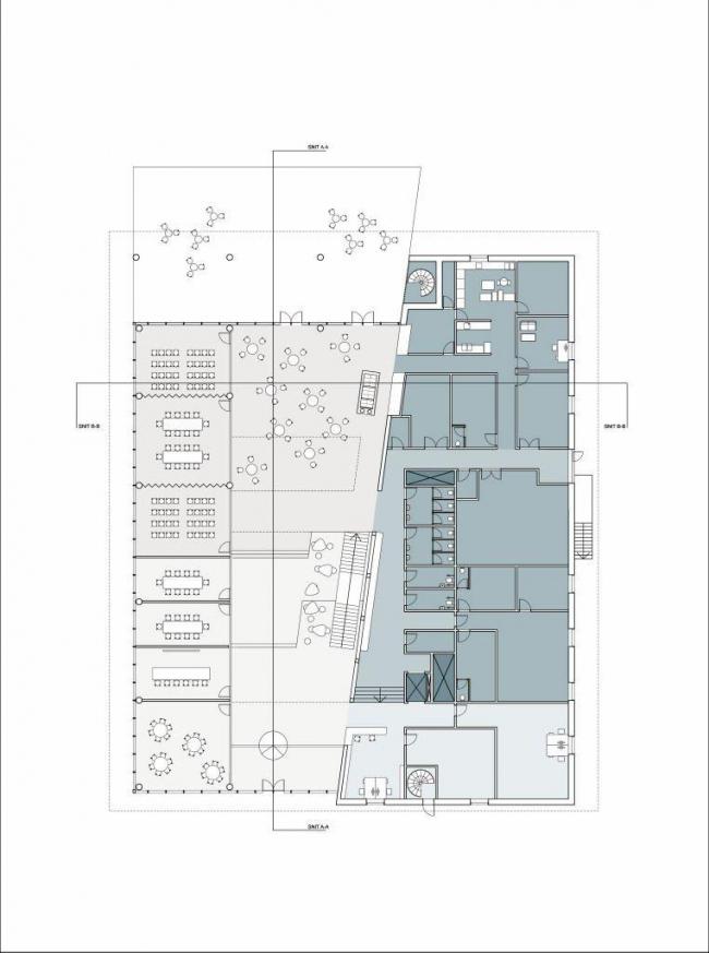 Здание компании Energinet.dk. План 1-го этажа