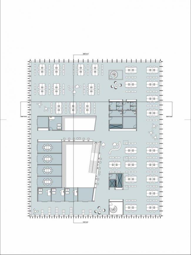 Здание компании Energinet.dk. План 2-го этажа