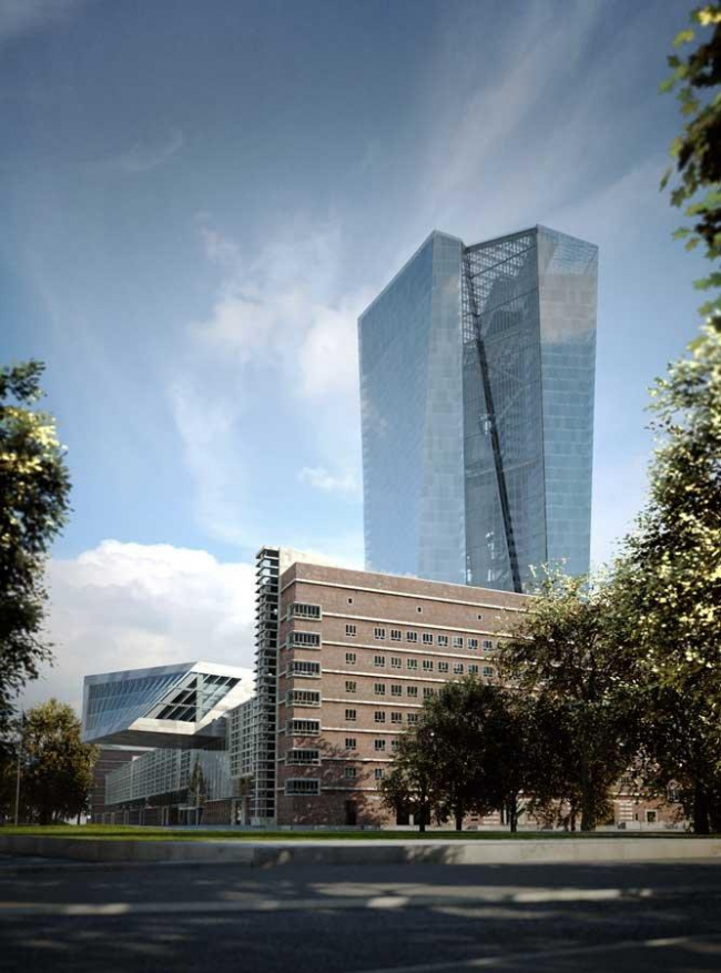 Европейский Центральный Банк. Окончательный проект © Coop Himmelb(l)au