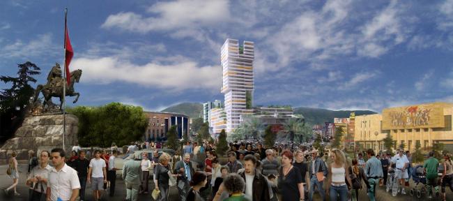Башня Eyes of Tirana © Henning Larsen Architects