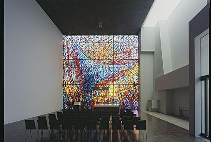 Евангелистская церковь в районе Дорнбуш. Франкфурт-на-Майне. Интерьер. фото: Кристоф Кранебург(Christoph Kraneburg)