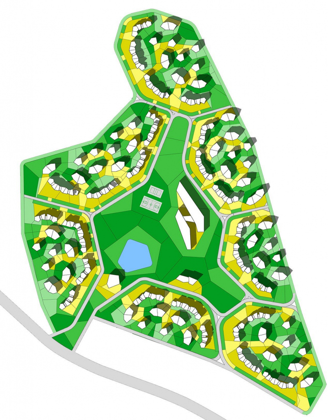 «Лоскутки» – концепция доступного и экологического жилья для России © Архитектурное бюро Асадова