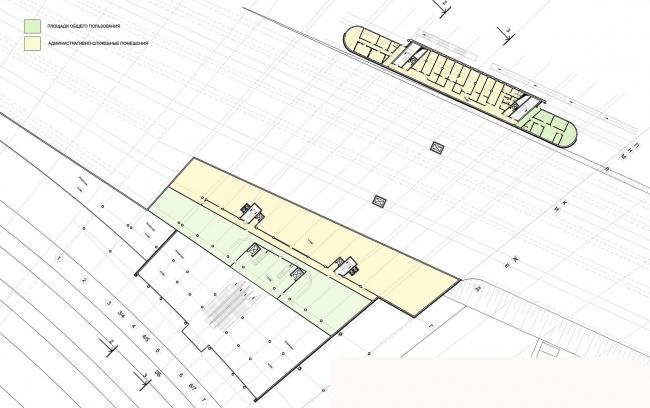 План второго этажа. Вокзал «Олимпийский парк» © «Студия 44»