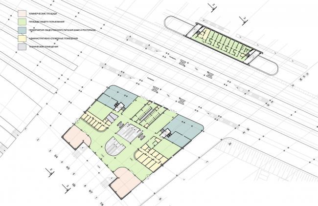 План третьего этажа. Вокзал «Олимпийский парк» © «Студия 44»