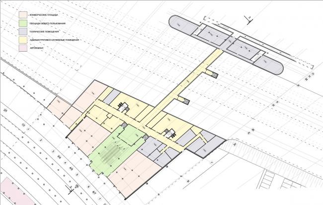 План первого этажа. Вокзал «Олимпийский парк»
