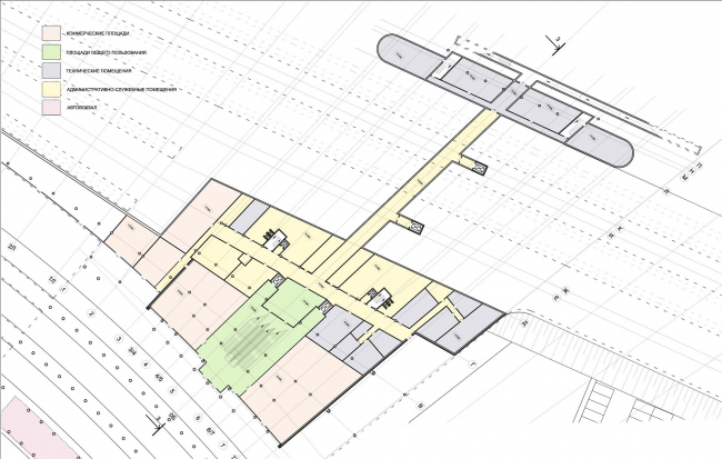 План первого этажа. Вокзал «Олимпийский парк» © «Студия 44»