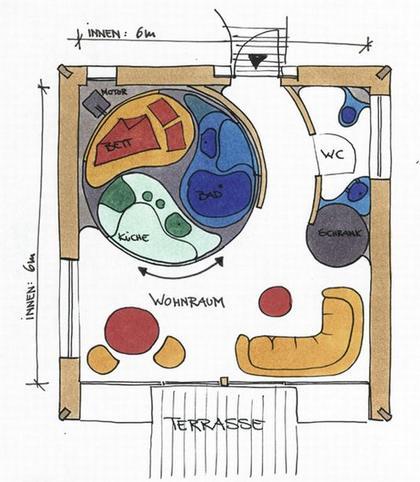 Луиджи Колани. Компактный дом. План