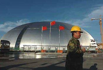 Большой народный театр Китая в процессе строительства