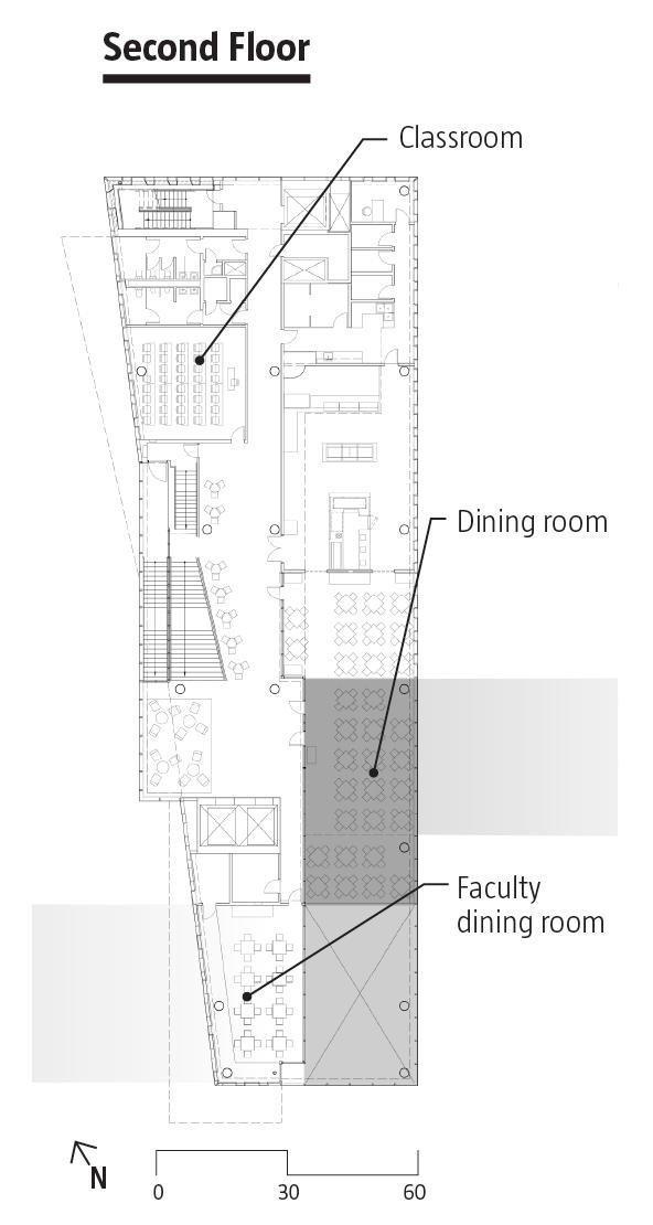 Корпус «Диана-Центр» Колледжа Барнард © Weiss/Manfredi Architecture