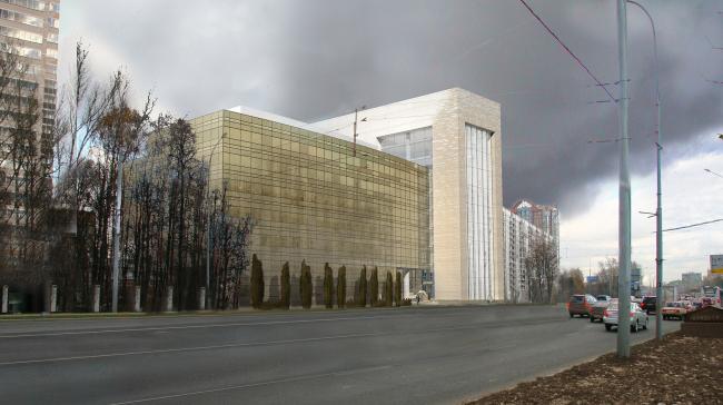 удалить изображение Офисное здание на Можайском шоссе. Вариант 2010 года (третий вариант)