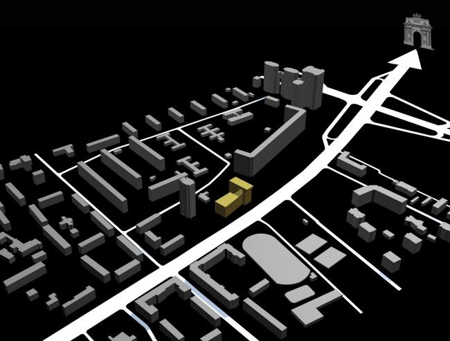 Схема расположения в городе