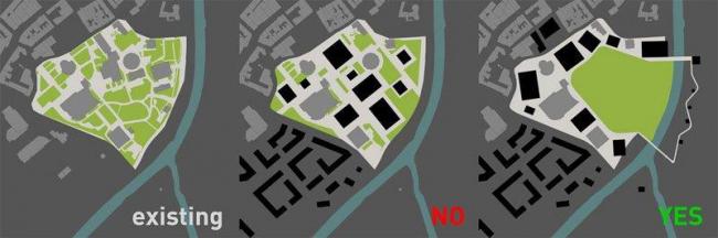 Комплекс учреждений культуры и парк в районе Черна лоука