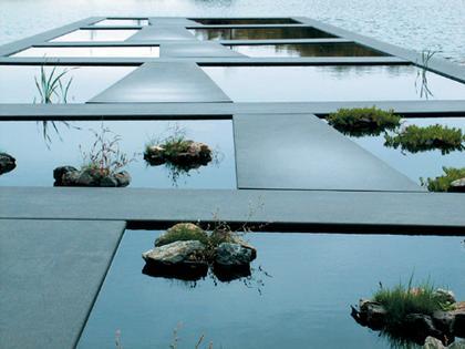 Mosbach Paysagistes. Водный сад Ботанического сада Бордо