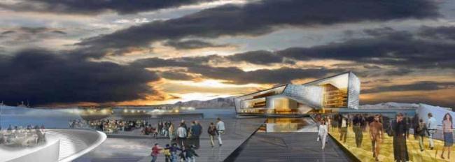Конгресс-центр и концертный зал Harpa. Проект 2007 года © Henning Larsen Architects